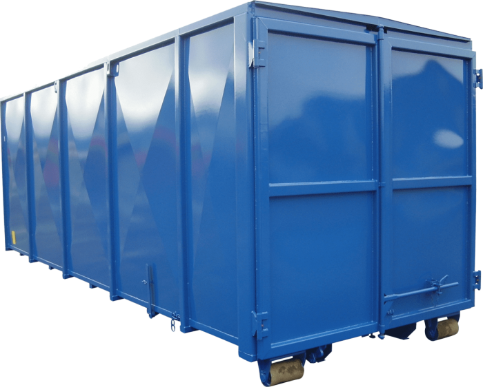 Abrollcontainer-Festes Dach