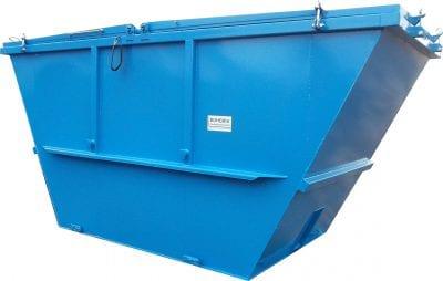 Abrollcontainer-Geschlossene symmetrische Ausführung hochgezogenen Schüttseiten mit zwei Stahldeckeln