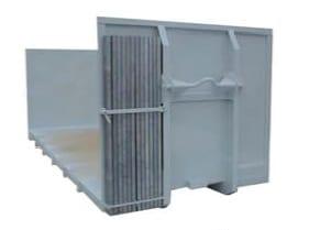 Abrollcontainer-Rungenablage mit Steckrungen
