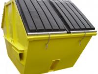 Absetzcontainer-Geschlossene symmetrische Ausführung mit Kunststoff Deckeln nach DIN 30720