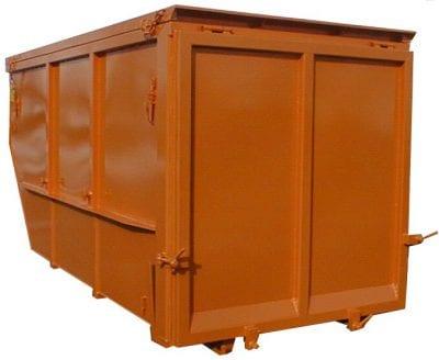 Absetzcontainer mit Flügeltüren mit Deckel