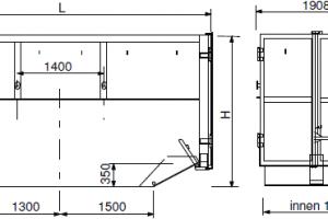 Absetzcontainer mit Flügeltüren – offen typ a-t table1