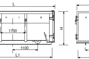 Absetzcontainer mit Flügeltüren – offen typ amb table1