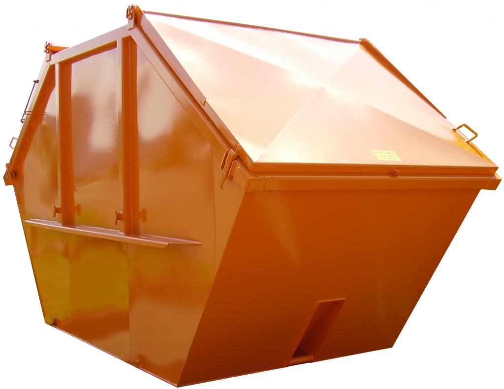 Absetzcontainer-symmetrisch mit Stahldeckeln nach DIN 30720