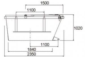 Geschlossene symmetrische Ausführung hochgezogenen Schüttseiten mit zwei Stahldeckeln-table1