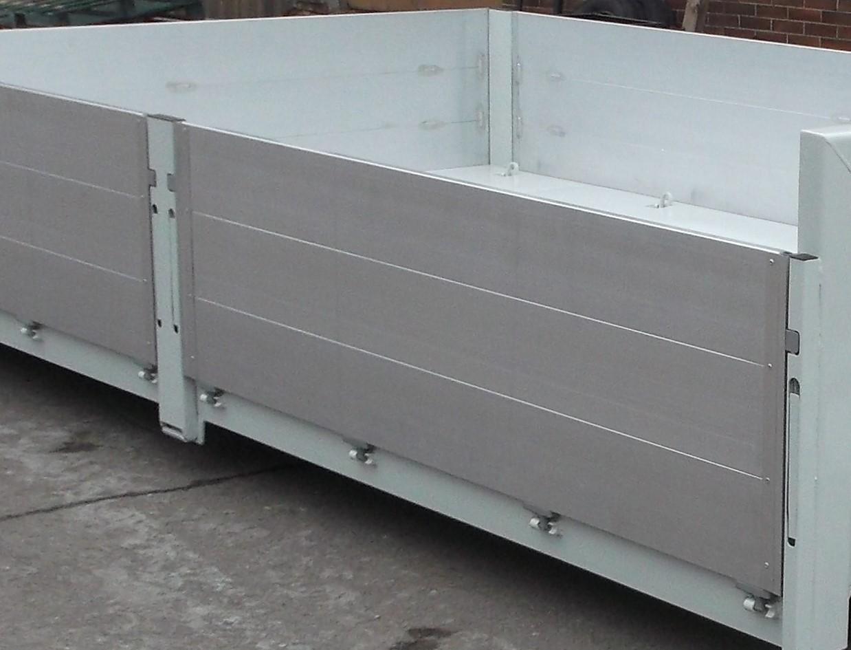 ALU Seitenwände, Seitenhöhe 250 – 1200 mm, mehrteilige Seitenwände